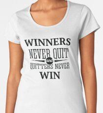 Redfool.com Winners Never Quit Women's Premium T-Shirt
