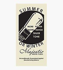 vintage radio tubes ad Photographic Print