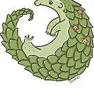 Leafy Green Pangolin by zoel