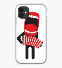 loud singing accordion player iPhone Case