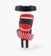 loud singing accordion player Travel Mug