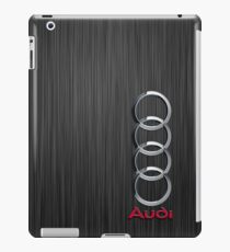 Audi logo on a field of steel iPad Case/Skin