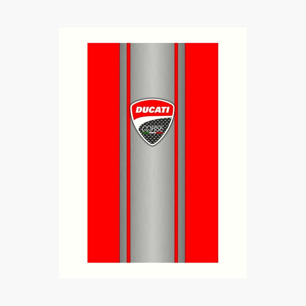 Ducati Corse Stahlhaut Kunstdruck