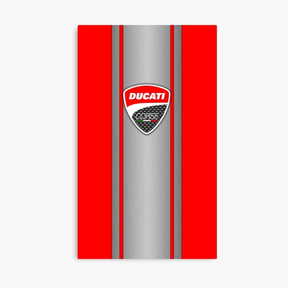 Ducati Corse Stahlhaut Leinwanddruck