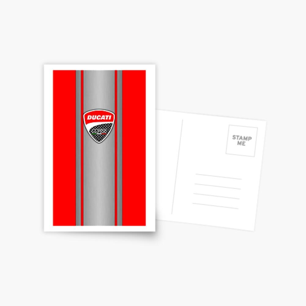 Ducati Corse Stahlhaut Postkarte