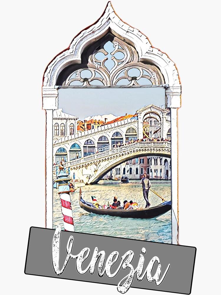 Venedig Venezia Stadt Italien Aufkleber Plakatdruck von Fredataur