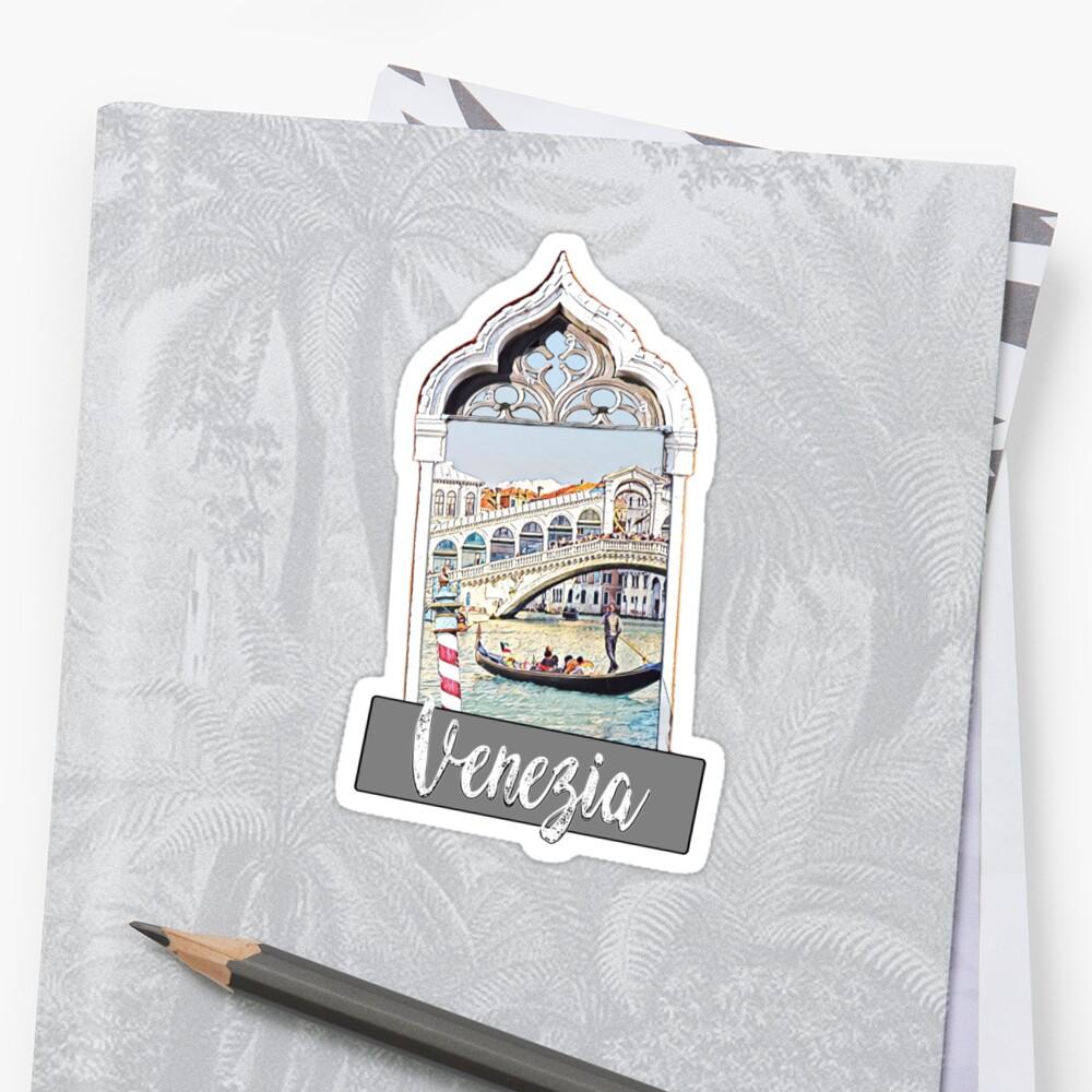 Venedig Venezia Stadt Italien Aufkleber Plakatdruck Sticker