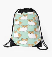 Cute Corgi Puppy Dog Drawstring Bag