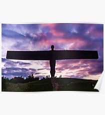 Angel of the North at sunset Poster