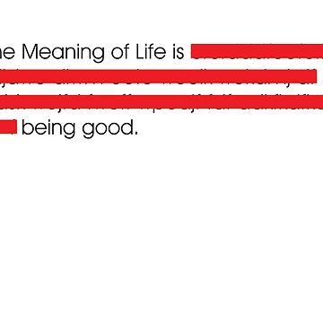Meaning of Life by hitme