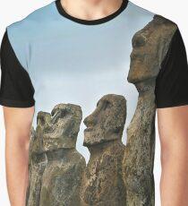 Moai Easter Island Graphic T-Shirt