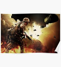 Soldiers In Battle Poster