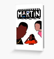 Martin (White) Greeting Card