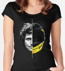 Guy Martin 2 Sides Helmet Design Women's Fitted Scoop T-Shirt