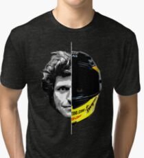 Guy Martin 2 Sides Helmet Design Tri-blend T-Shirt