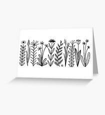 Blumenmuster scharz/weiß / flower pattern Greeting Card
