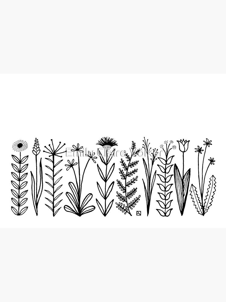 Blumenmuster scharz/weiß / flower pattern von lillylotus