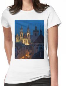 Evening Prague Womens Fitted T-Shirt