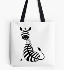 SITTING ZEBRA #1 Tote Bag