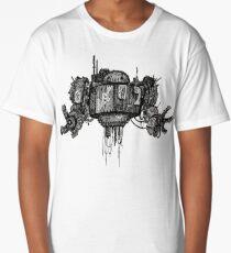 Retro Robot Print Long T-Shirt