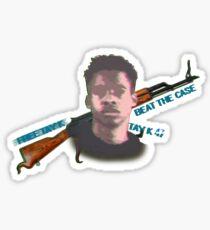 #freetay-k the race Sticker
