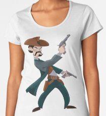 Cartoon Cowboy Women's Premium T-Shirt