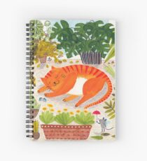 Katze im Gewächshaus Spiral Notebook