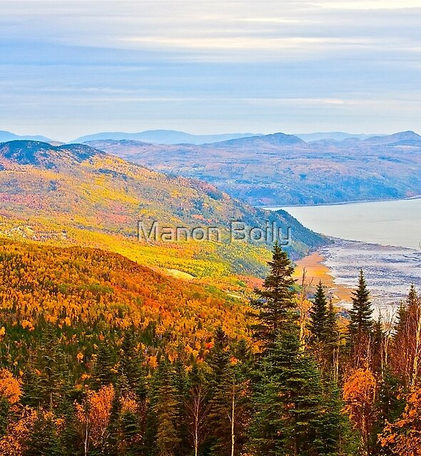 Le Massif in Quebec at fall time by Manon Boily