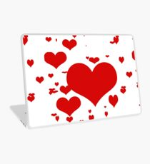 Red hearts for love pattern  Laptop Skin