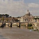 St Peter's Dome From The Tiber by Fara