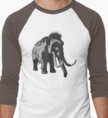 Woolly Mammoth Pen Drawing Design in Shades of Gray T-Shirt