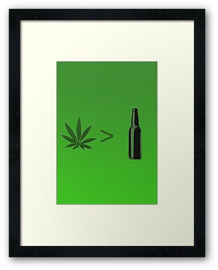 Weed Greater Than Beer by SophisticatC x Studio Momo╰༼ ಠ益ಠ ༽
