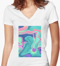 Lava Sea Women's Fitted V-Neck T-Shirt