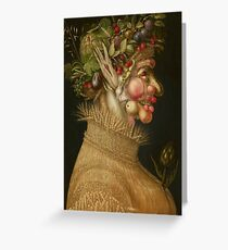 Summer by Giuseppe Arcimboldo Greeting Card