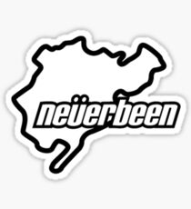 neverbeen white Sticker