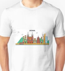 Vietnam, Ho Chi Minh City City Skyline Design T-Shirt