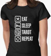 Eat Sleep Tarot Repeat Women's Fitted T-Shirt