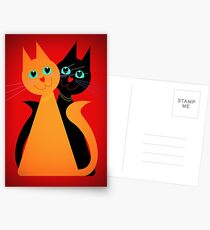 Feline Friends Postcards