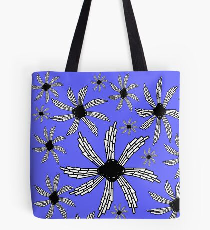 Periwinkle blue spiral wind catcher pattern Tote Bag