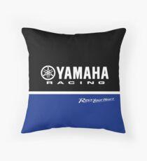 YAMAHA Blue Throw Pillow