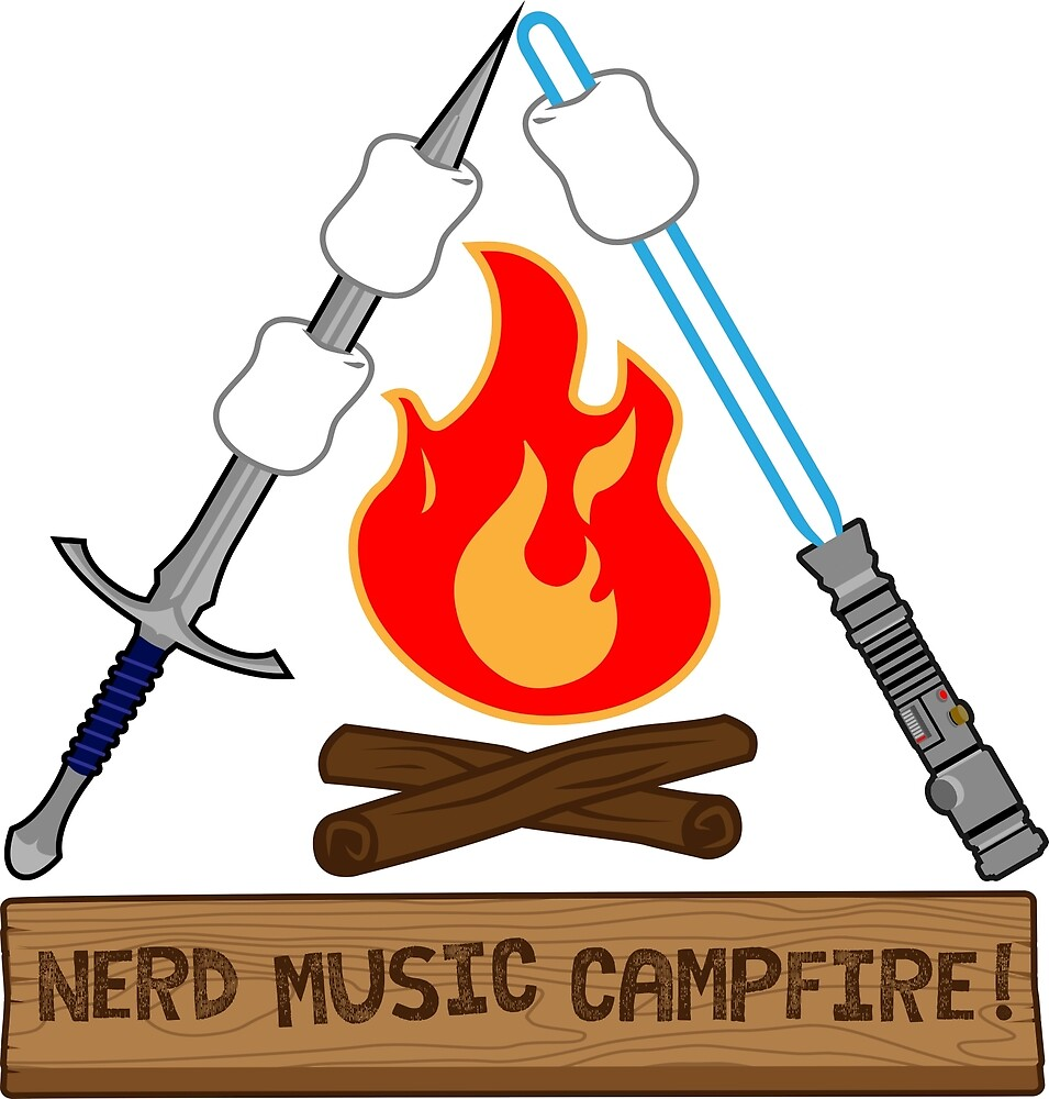 Nerd Music Campfire Classic Logo by Metricula
