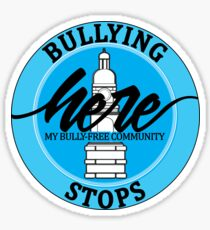 Bullying Stops Here - My Bully-Free Community Sticker
