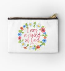 I Am A Child Of God - Christian Quote Studio Pouch