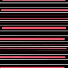 Pink and black stripe pattern by HEVIFineart