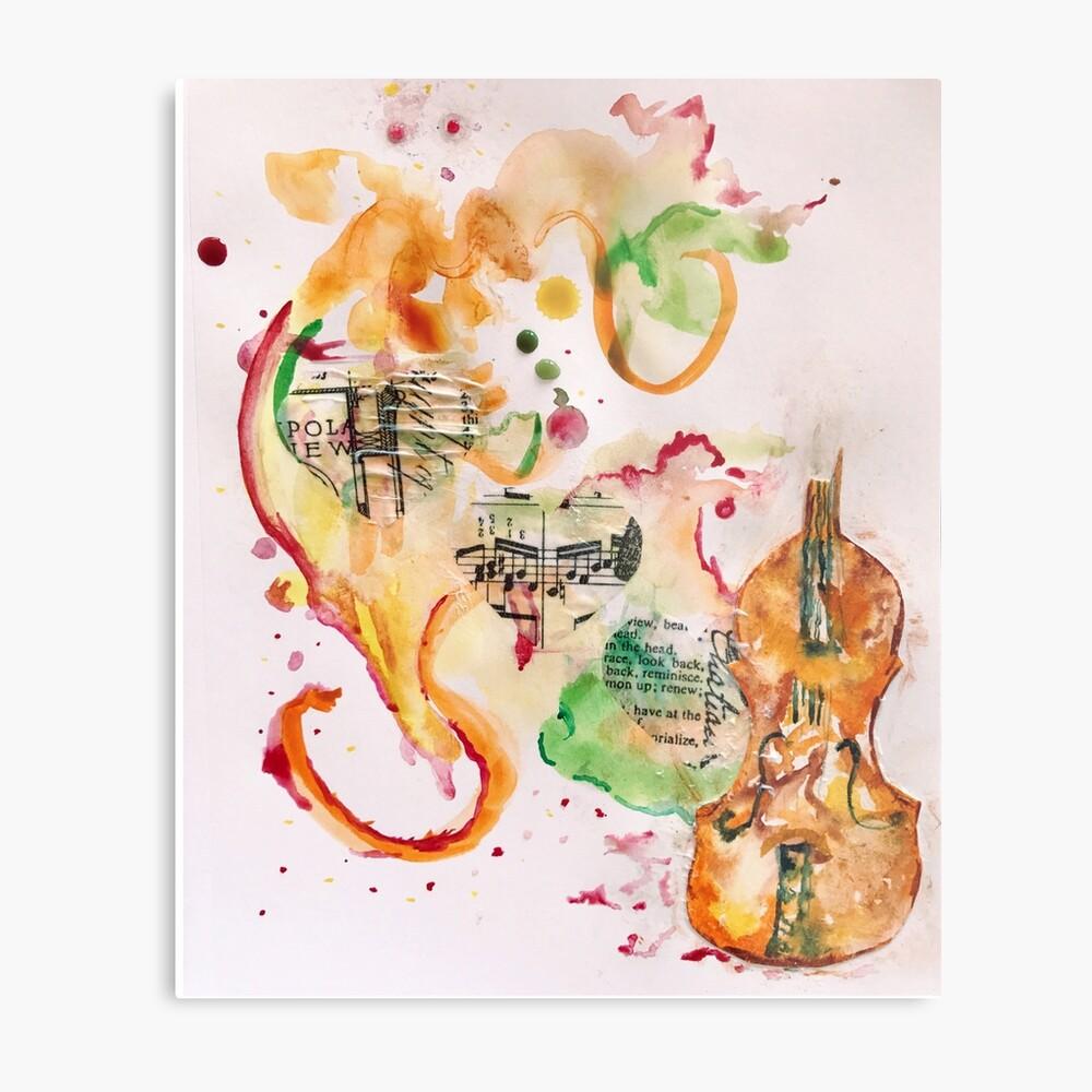 Violin Love Metal Print