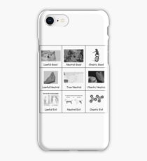 The Meme Alignment Chart iPhone Case/Skin