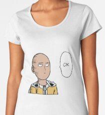 One Punch Man Saitama Women's Premium T-Shirt