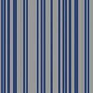 Blue steel gray awning stripe pattern  by HEVIFineart