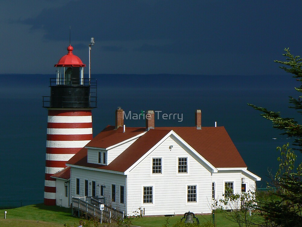 Quoddy Head Lighthouse by Marie Terry