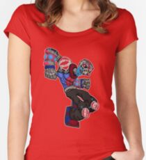 battle bot: spine smasher... Women's Fitted Scoop T-Shirt